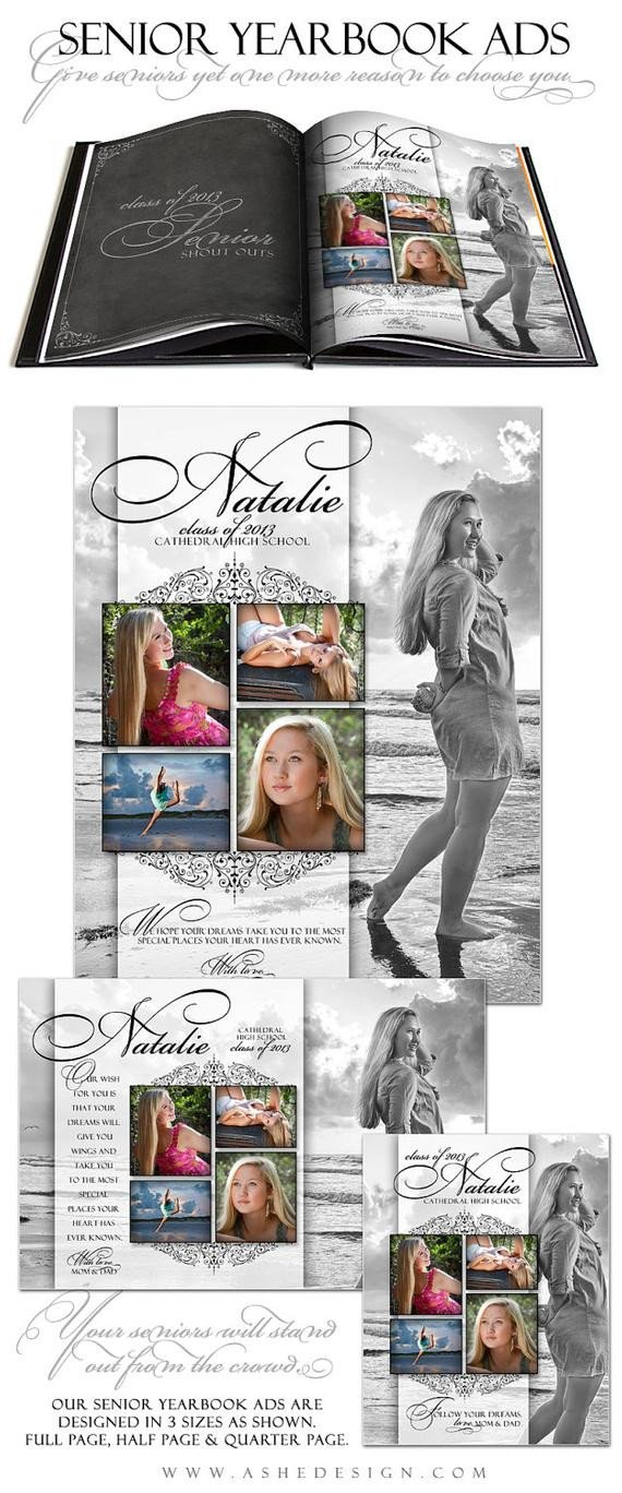 Senior Yearbook Ads shop Templates SIMPLY by ashedesign