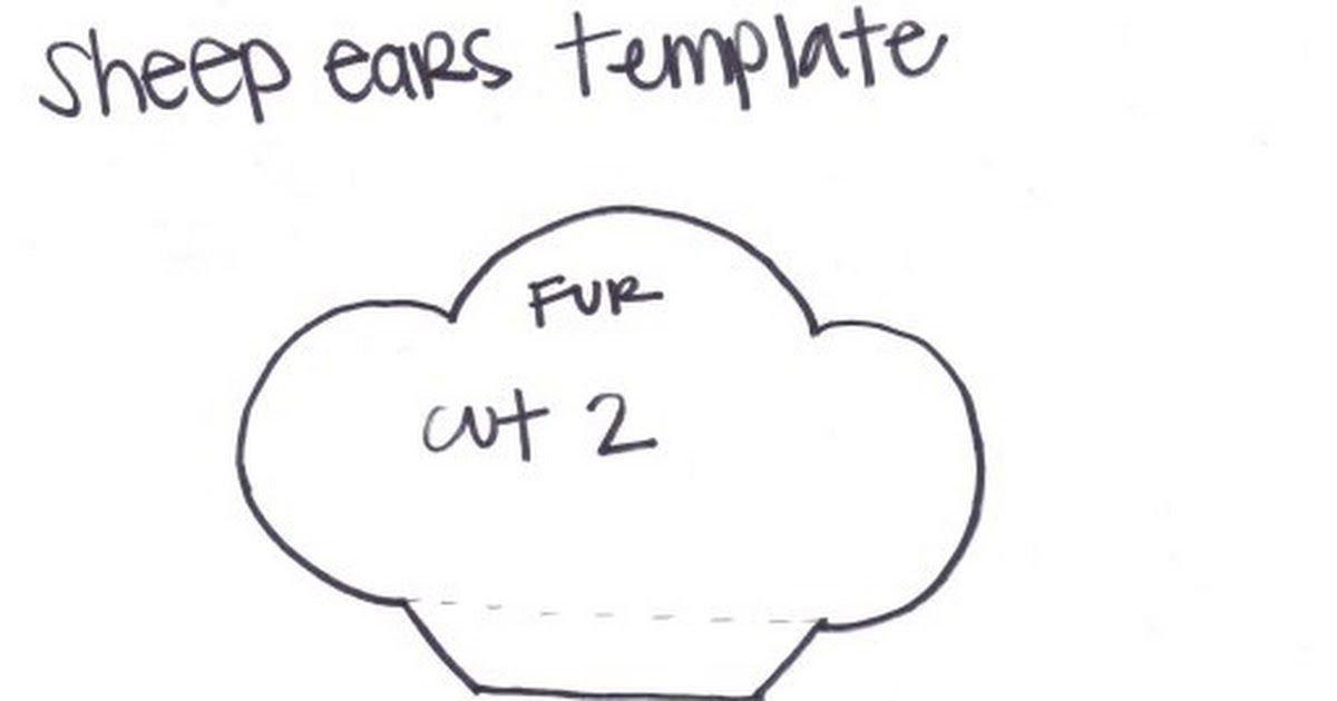 Sheep Ears Template Sheep Ears Template Pdf 1