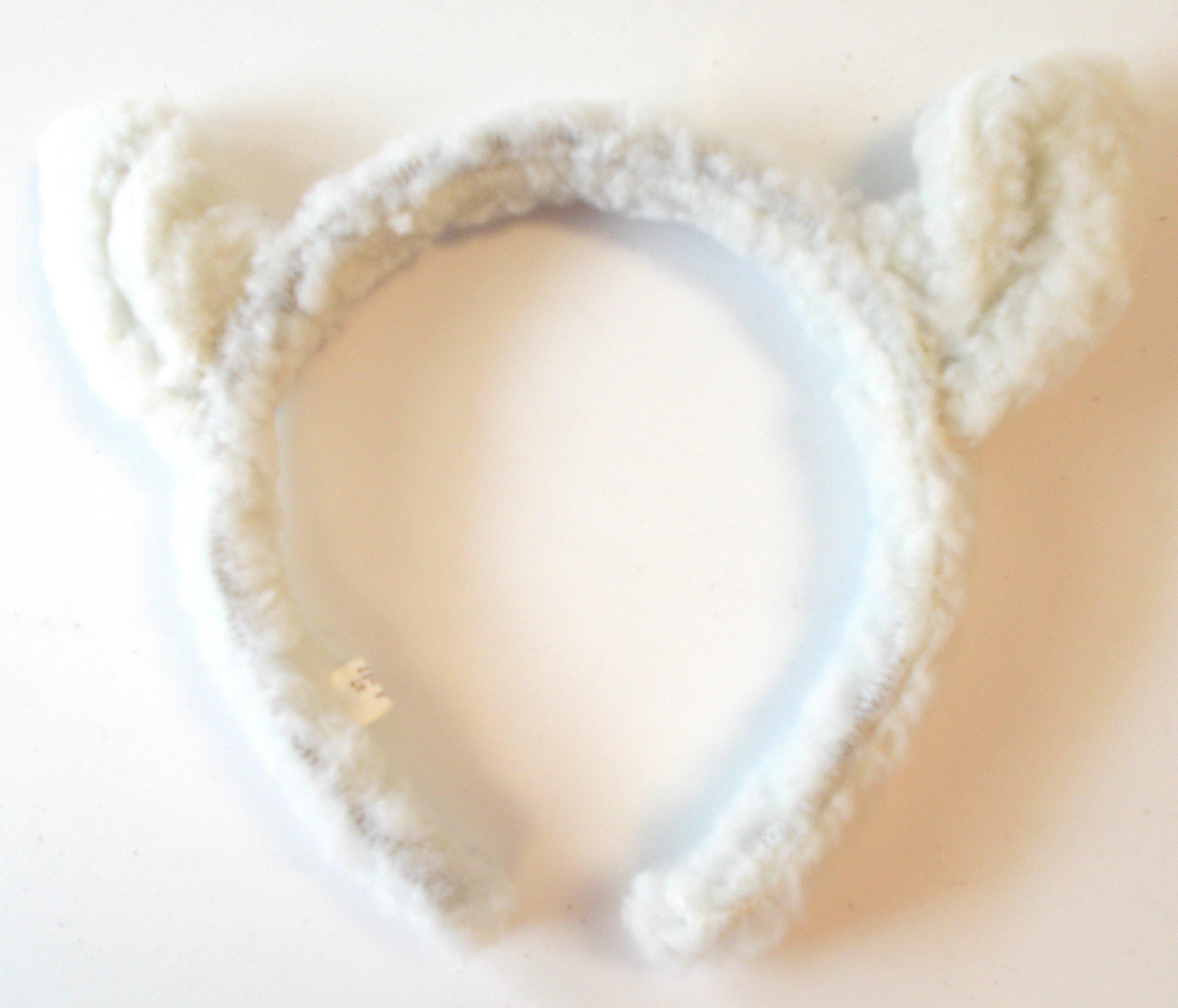 Sheep Ears Template White Wooly Lamb Ears Headband Osfm Nip