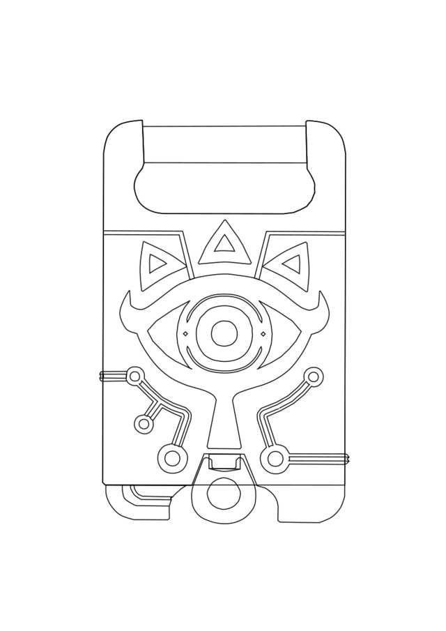 Sheikah Slate Template Sheikah Armor Link Cosplay Build Birthdays