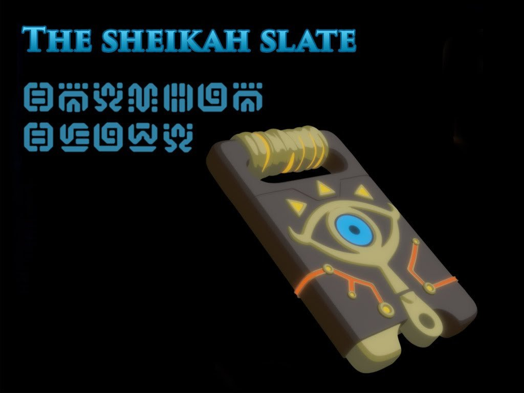 Sheikah Slate Template Sheikah Slate Nintendo