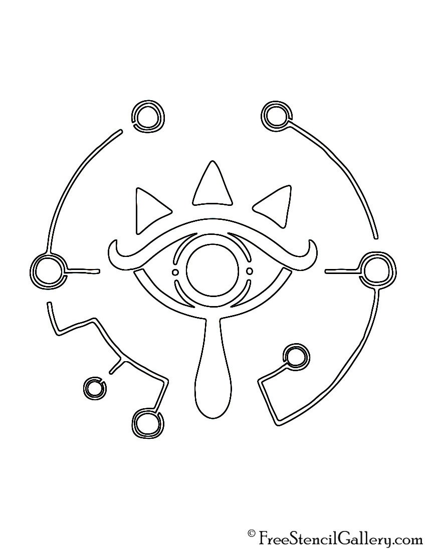 Sheikah Slate Template Zelda Breath Of the Wild Sheikah Eye Logo Stencil