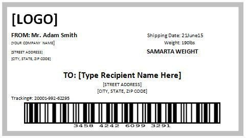 Shipping Label Template Free 10 Free Template for Shipping Label