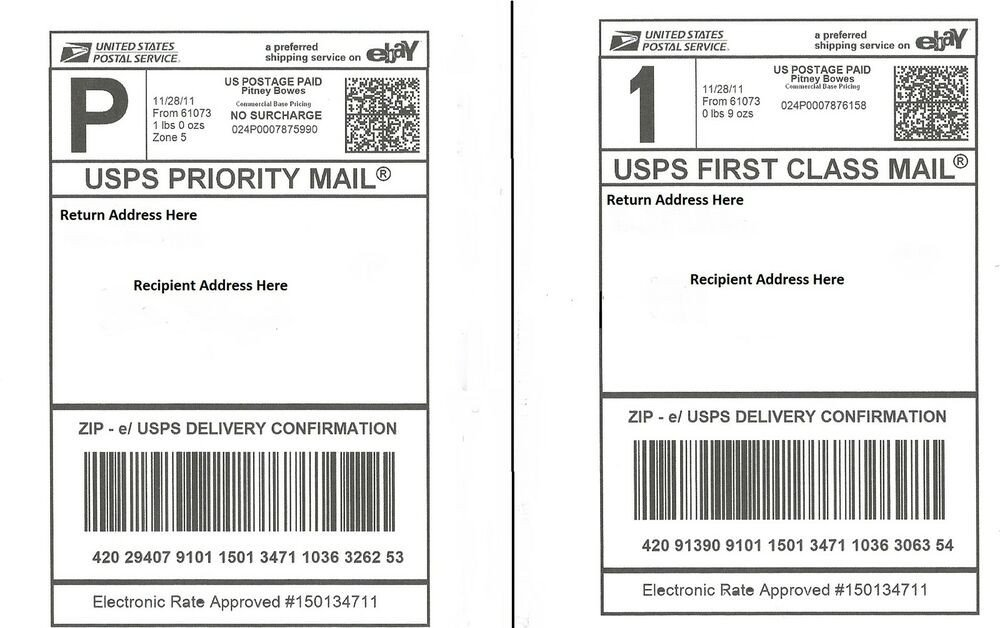 Shipping Label Template Free 100 Self Adhesive Shipping Labels Laser Inkjet Printer