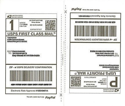 Shipping Label Template Free Shipping Labels 50 Half Page Shipping Labels 25 Sheets for