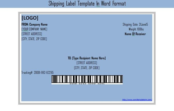 Shipping Label Template Word Get Shipping Label Template In Word format