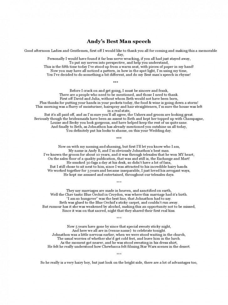 Short Best Man Speech Template 11 Best Man Speech Examples Pdf