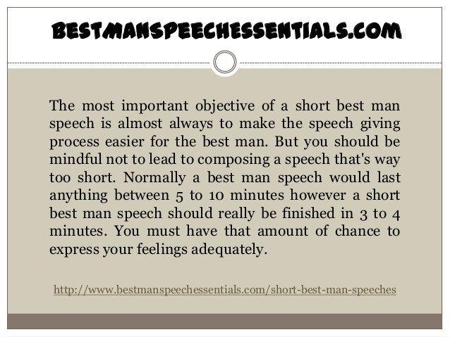 Short Best Man Speech Template How to Make Short Best Man Speeches