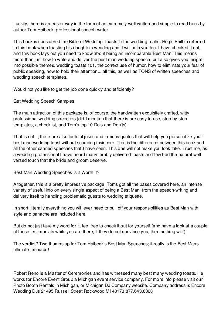 Short Best Man Speech Template How to Write A Best Man Wedding Speech toast