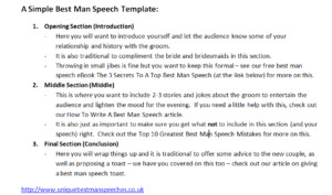 Short Best Man Speech Template why You Don T Need A Best Man Speech Template