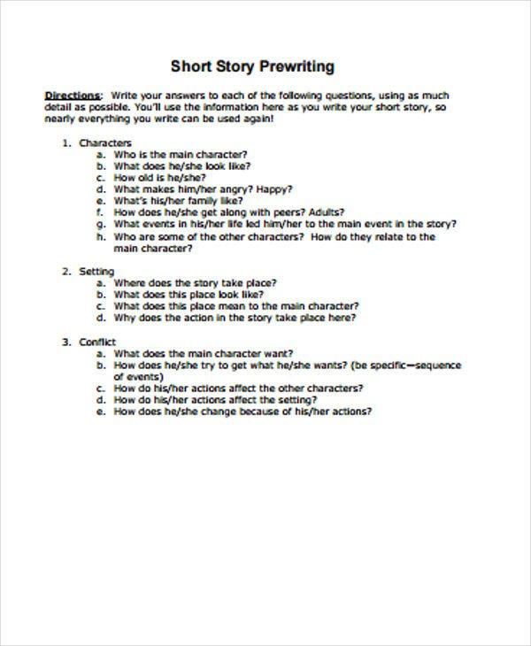 Short Story Outline Template 3 Short Story Outline Templates
