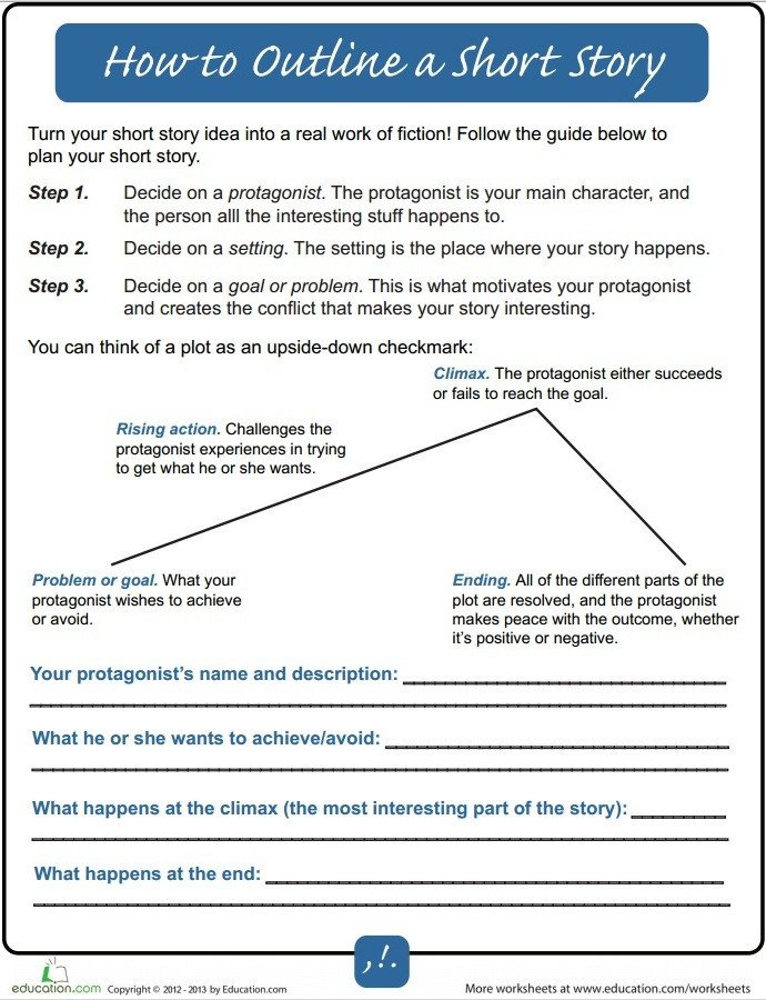 Short Story Outline Template How to Outline A Short Story for Beginners Writers Write