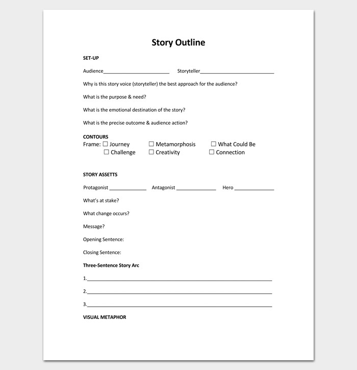Short Story Outline Template Story Outline Template 15 for Word and Pdf format