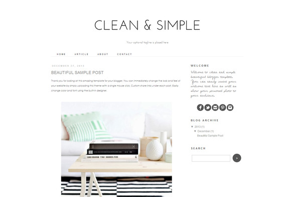 Simple Blogger Templates Free Blogger Template Clean and Simple themes On Creative
