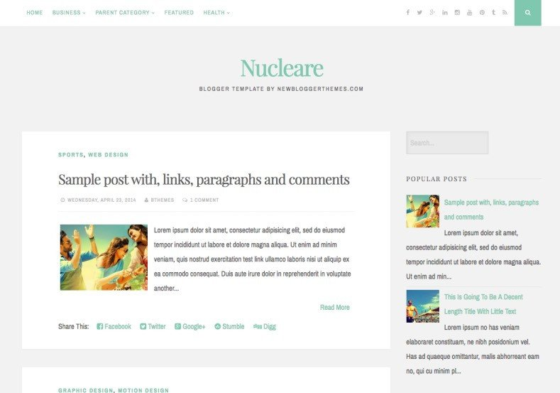 Simple Blogger Templates Free Nucleare Simple Blogger Template • Templates 2019