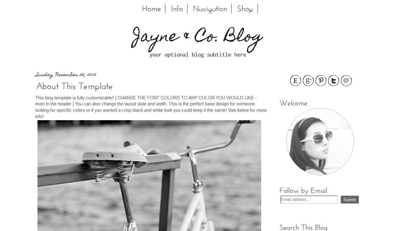 Simple Blogger Templates Free Simple Blogger Template Simple Black and White Modern