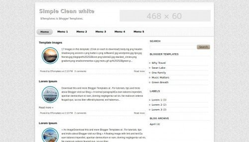 Simple Blogger Templates Free Simple Clean White Blogger Template Btemplates