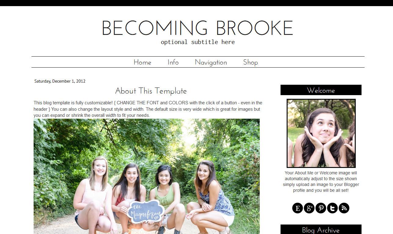 Simple Blogger Templates Free Simple Premade Blogger Template Black White Brooke