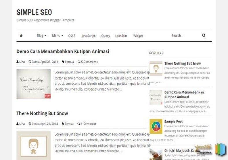 Simple Blogger Templates Free Simple Seo Blogger Template • Templates 2019