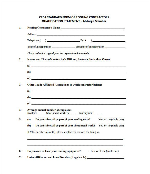 Simple Roofing Contract Template Roofing Contract Template 8 Download Free Documents In Pdf