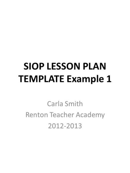Siop Lesson Plan Template 1 Future City Petition Ppt