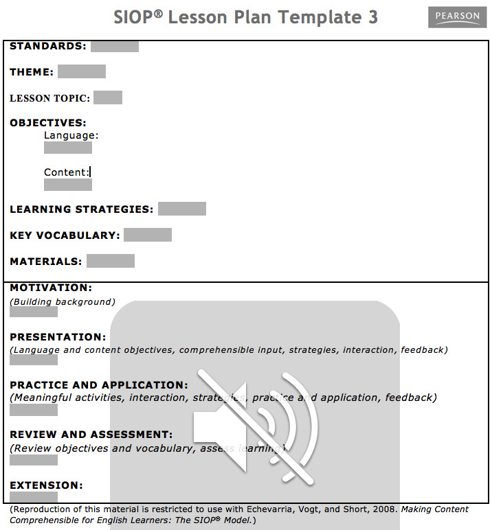 Download SIOP Lesson Plan Template 1 2