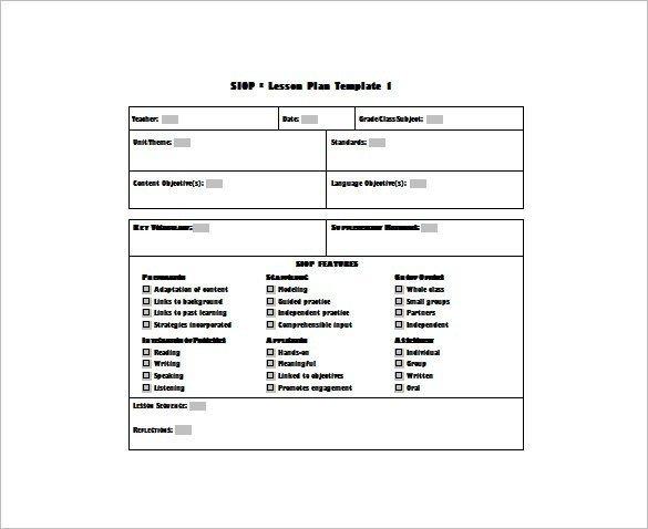Siop Model Lesson Plan Template Uft Lesson Plan Template – Uft Unit Plan Template Physical