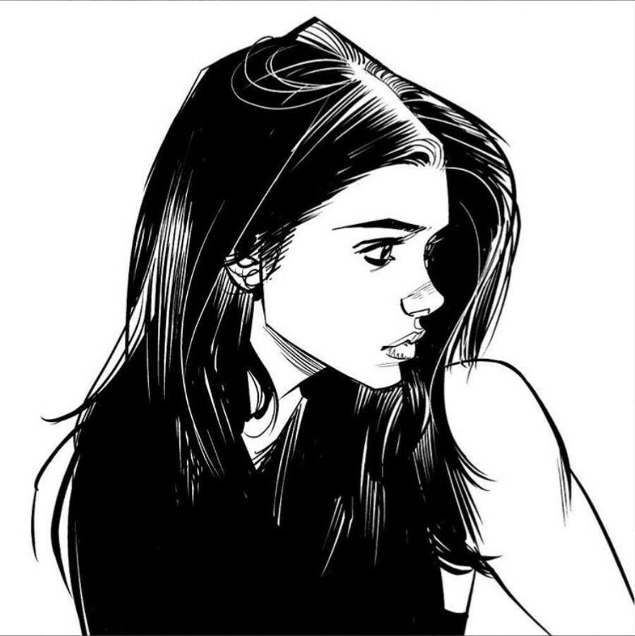 Sketch Of Girl Face Best 25 Profile Ideas On Pinterest