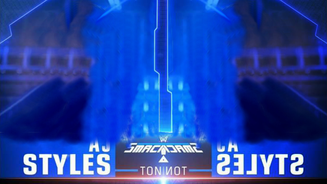 Smackdown Match Card Template Renders Backgrounds Logos