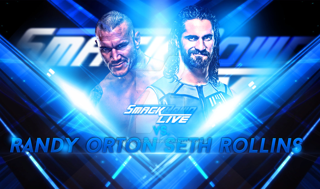 Smackdown Match Card Template Wwe Smackdown Live 2016 Custom Match Card by