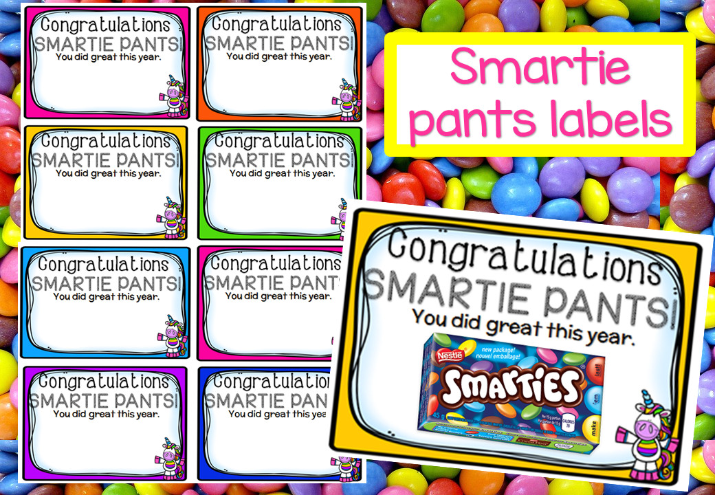 Smartie Pants Template End Of Year Smartie Pants Tags – Mash