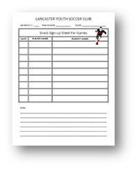 Snack Sign Up Sheet Template Email Sign Up Sheet Template Google Search