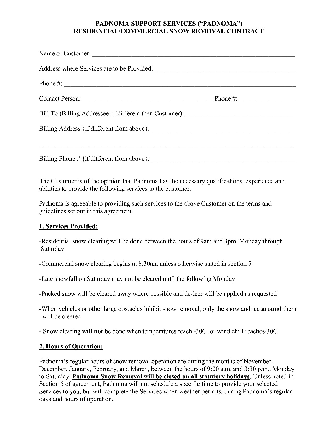 Snow Removal Contracts Templates 100 Contract Negotiation Letter are Fer Letter