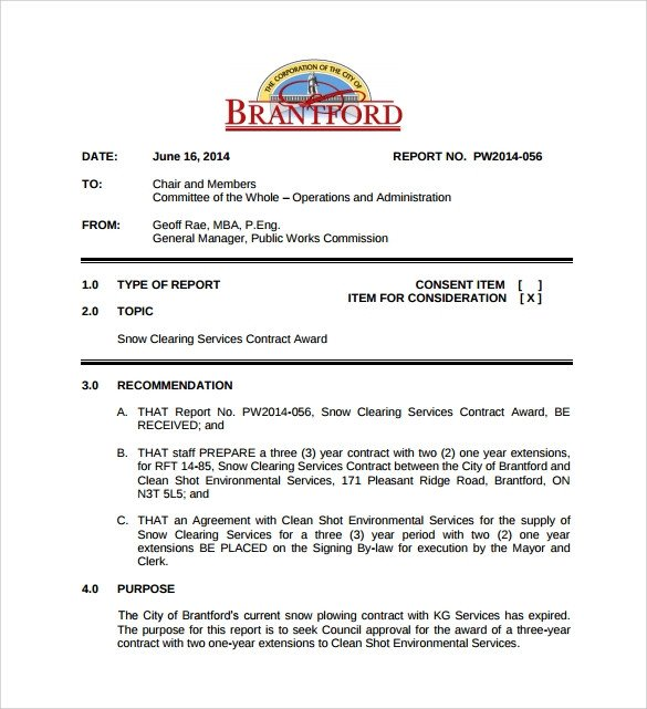Snow Removal Contracts Templates Snow Plowing Contract Template 6 Download Documents In