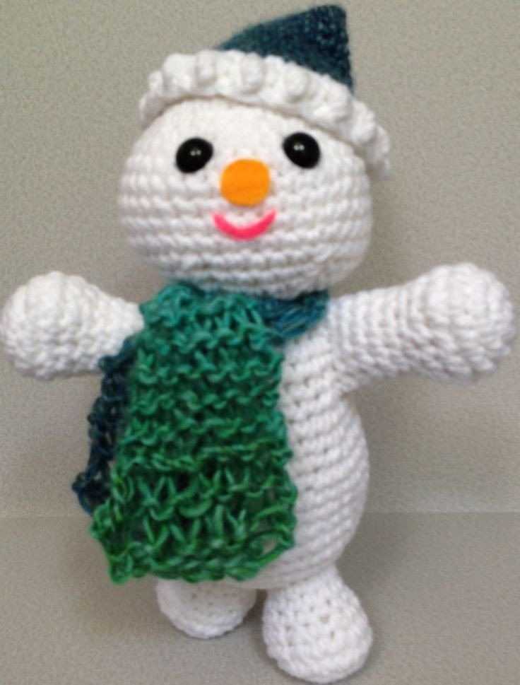 Snowman Scarf Template Snowman with Knitted Scarf Pattern