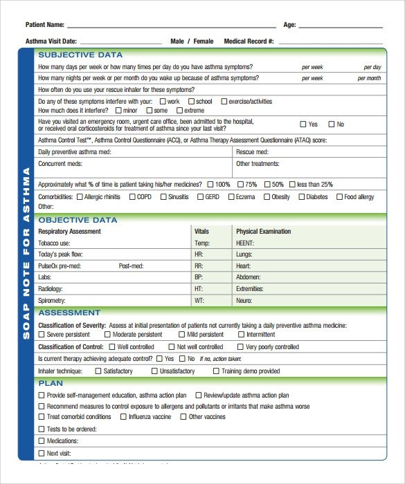 Soap Note Template Word soap Note Template 10 Download Free Documents In Pdf Word