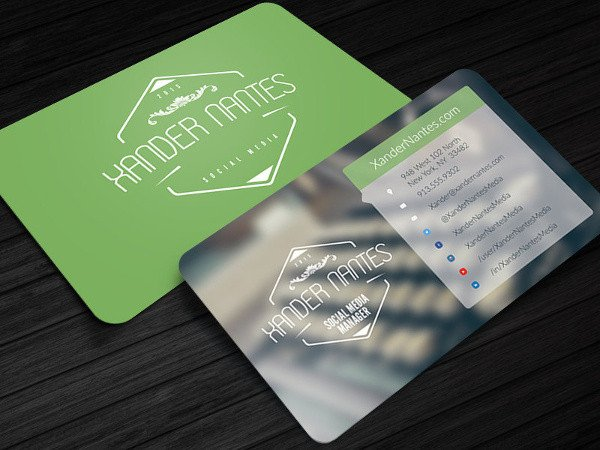 13 Social Media Business Card Templates PSD Word AI