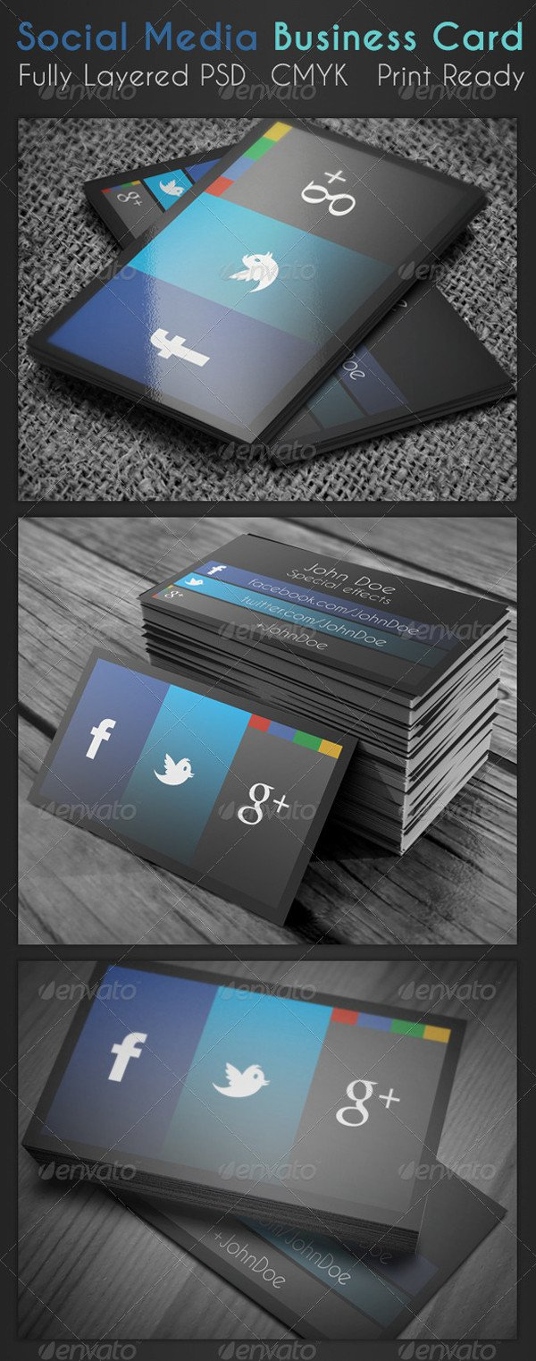 Social Media Business Card social Media Business Card On Inspirationde