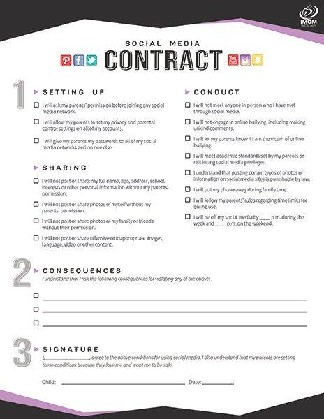 Social Media Contracts Templates [template] social Media Contract Bonsai