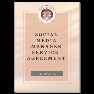 Social Media Management Contract Terms and Conditions Of Use with Disclaimer