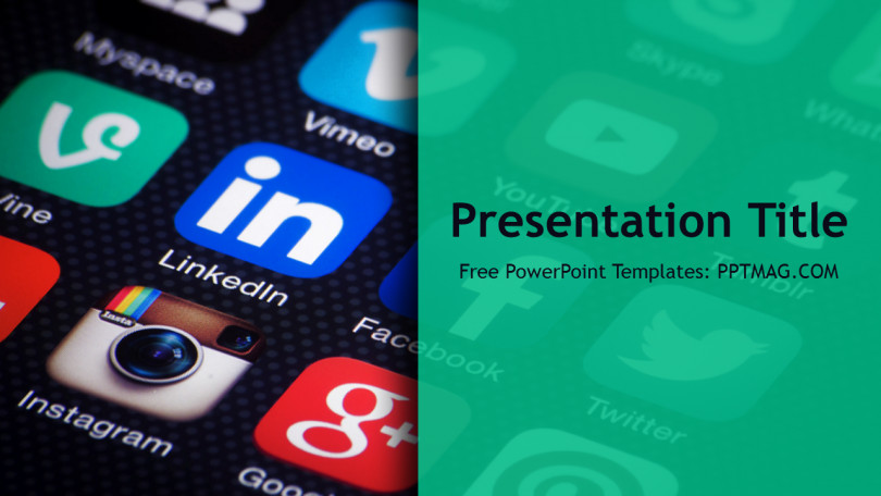 Free Social Media PowerPoint Template PPTMAG