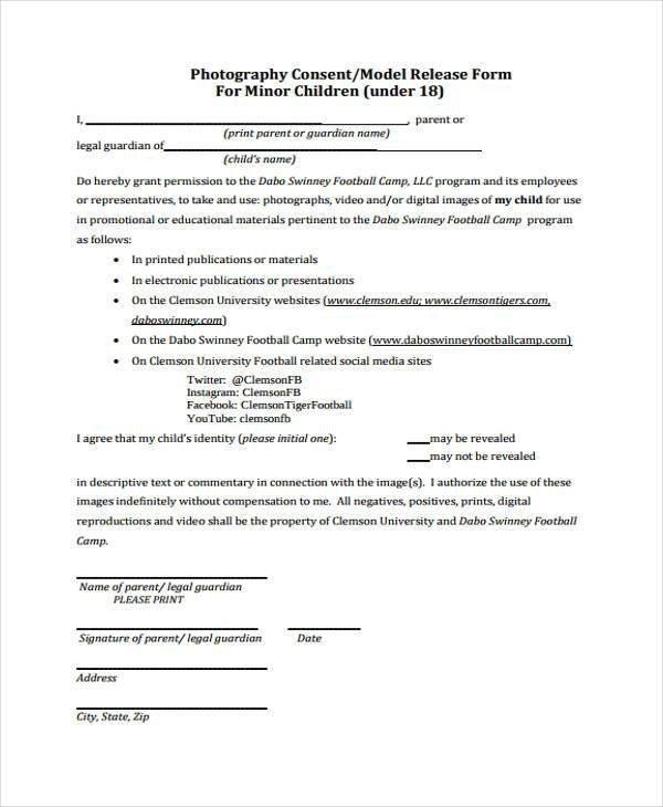 Social Media Release form Release form Templates