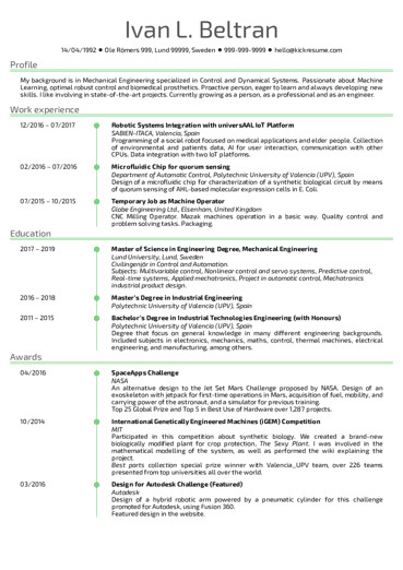 Software Engineering Resume Template Engineering Resume Samples From Real Professionals who Got
