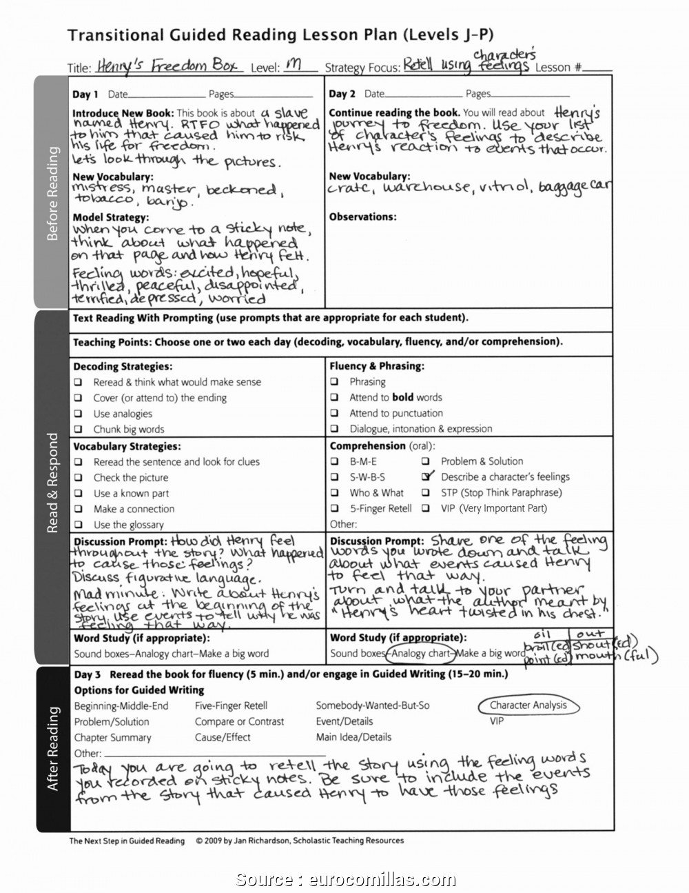 Special Education Lesson Plan Template 5 New Special Education Lesson Plans Reading