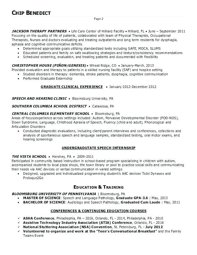 10 11 speech pathologist resume samples