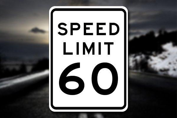 Speed Limit Sign Template 3d Man Made Creative Market