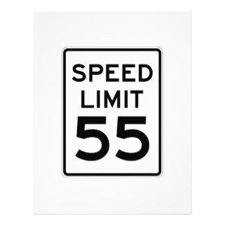 Speed Limit Sign Template 55 Letterhead Custom 55 Letterhead Templates