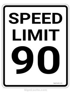 Speed Limit Sign Template Pin by Muse Printables On Printable Signs at Signcastle