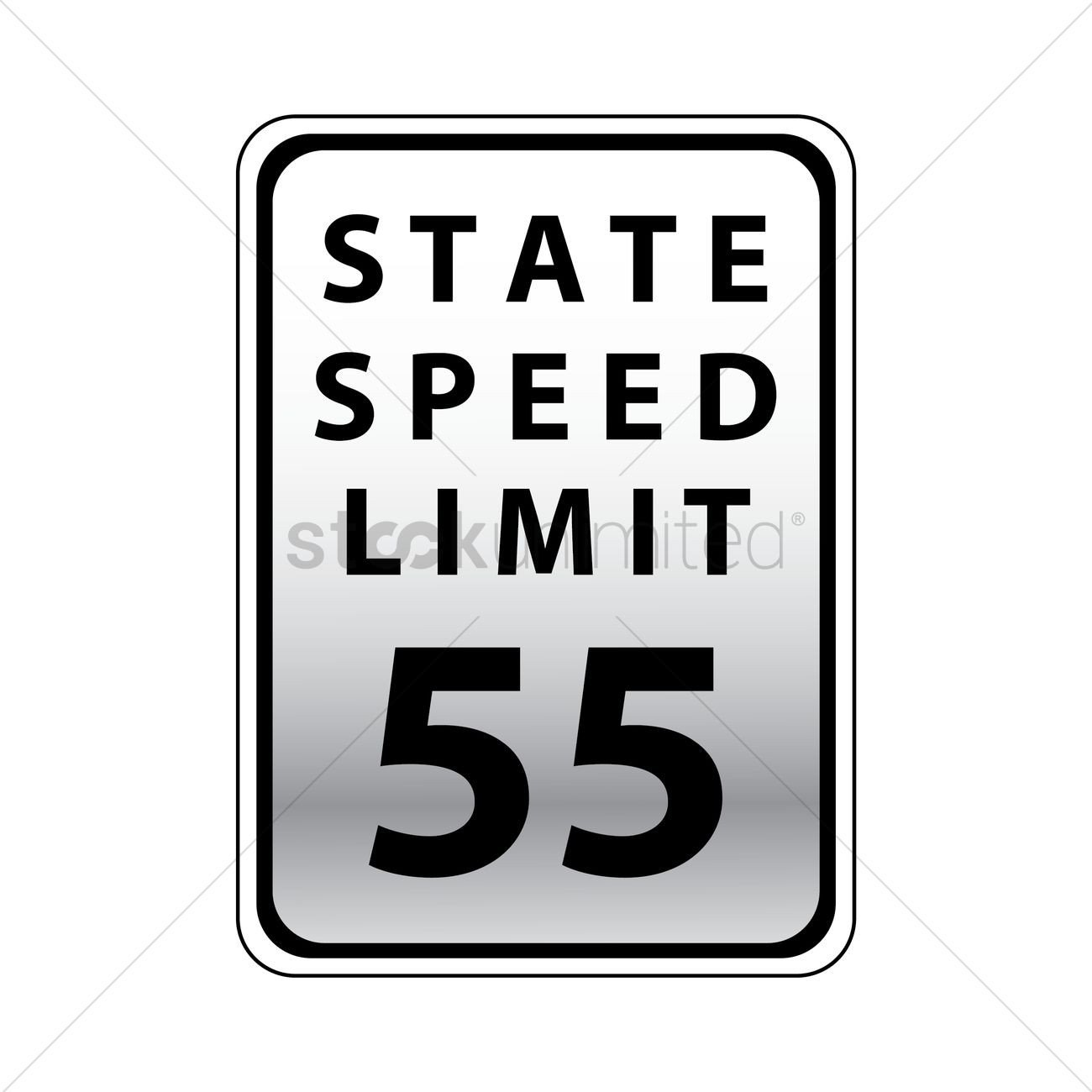 Speed Limit Sign Template Speed Limit 55 Road Sign Vector Image