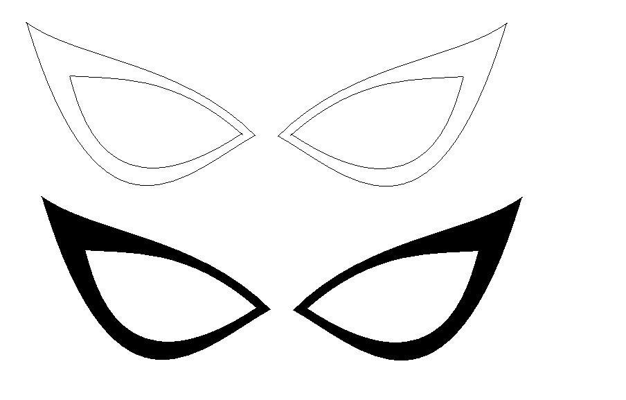 Spiderman Eye Template Progress On Template & A Smidge On Eye Frame Tests